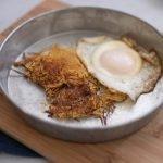 Spaghetti Squash Hash browns with fried egg #lowcarbbreakfast #THM #Keto