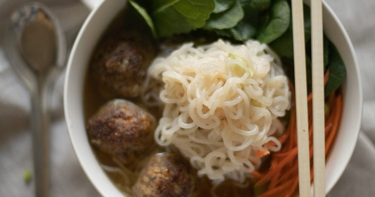 Sausage Meatball Noodle Bowl