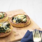 Spaghetti Squash rings stuffed with chicken, ricotta, and spinach. A wonderful keto dish! #lowcarb #recipe#keto #spaghettisquash #lowcarb