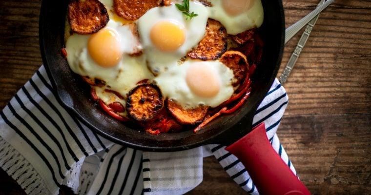 Roasted Sweet Potato Egg Bake
