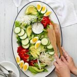 Farmers market salad - with crunchy jicama - a low carb, vegetarian salad that anyone can enjoy