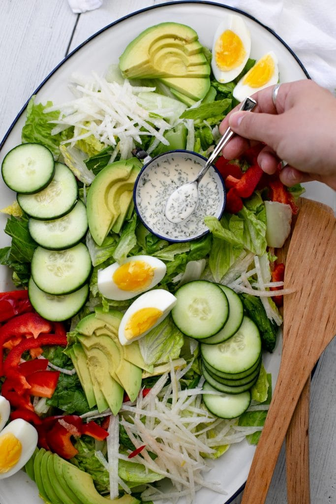 Lemon ranch dressing - an easy DIY salad dressing