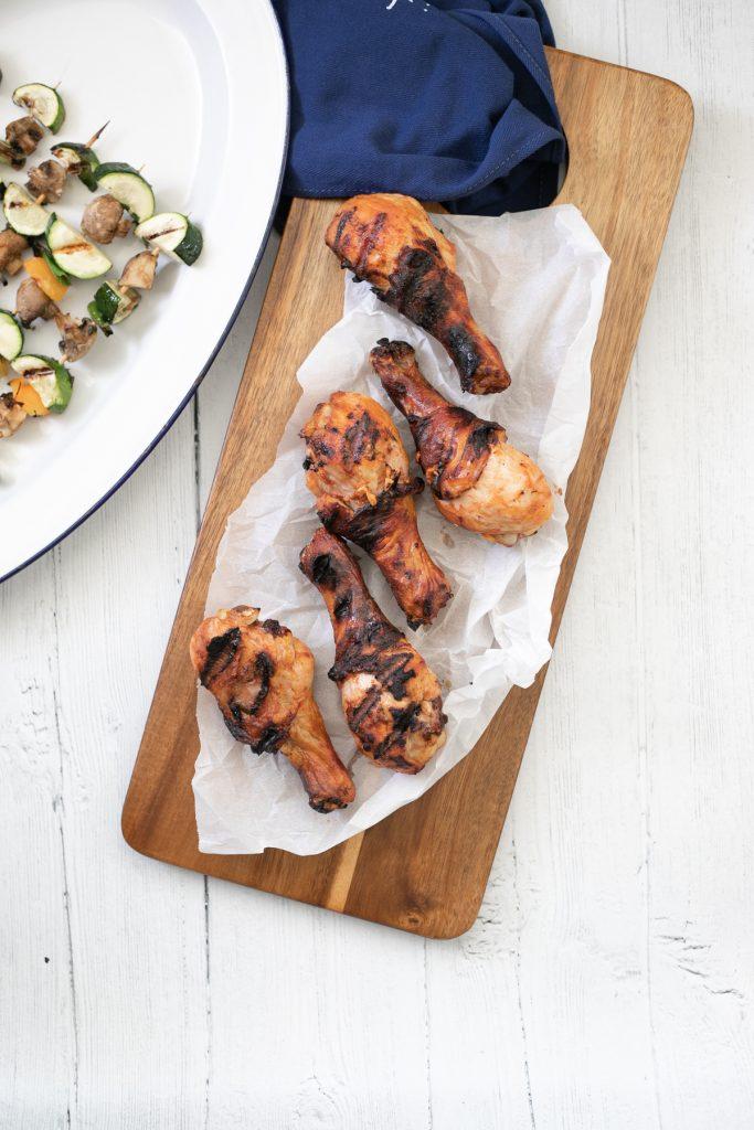 Paprika grilled chicken - with paprika yogurt marinade.