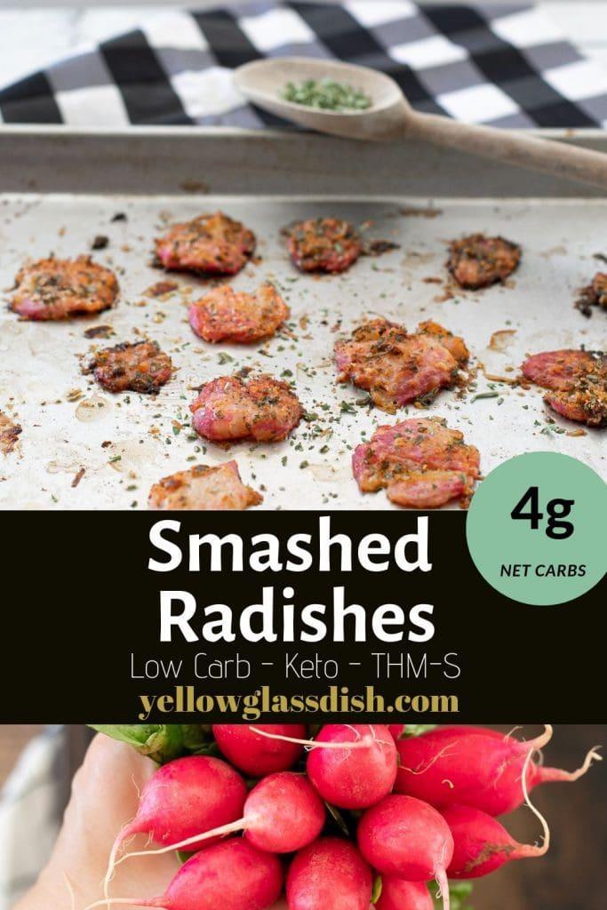 Smashed Radish Pinterest Pin