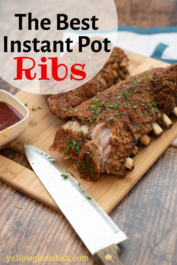 Pin Image for The Best Keto Instant Pot Ribs recipe