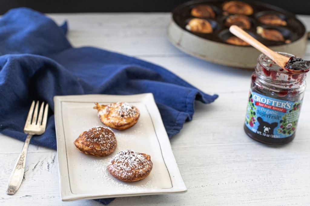 low carb aebleskiver | keto pancake balls with jam filling