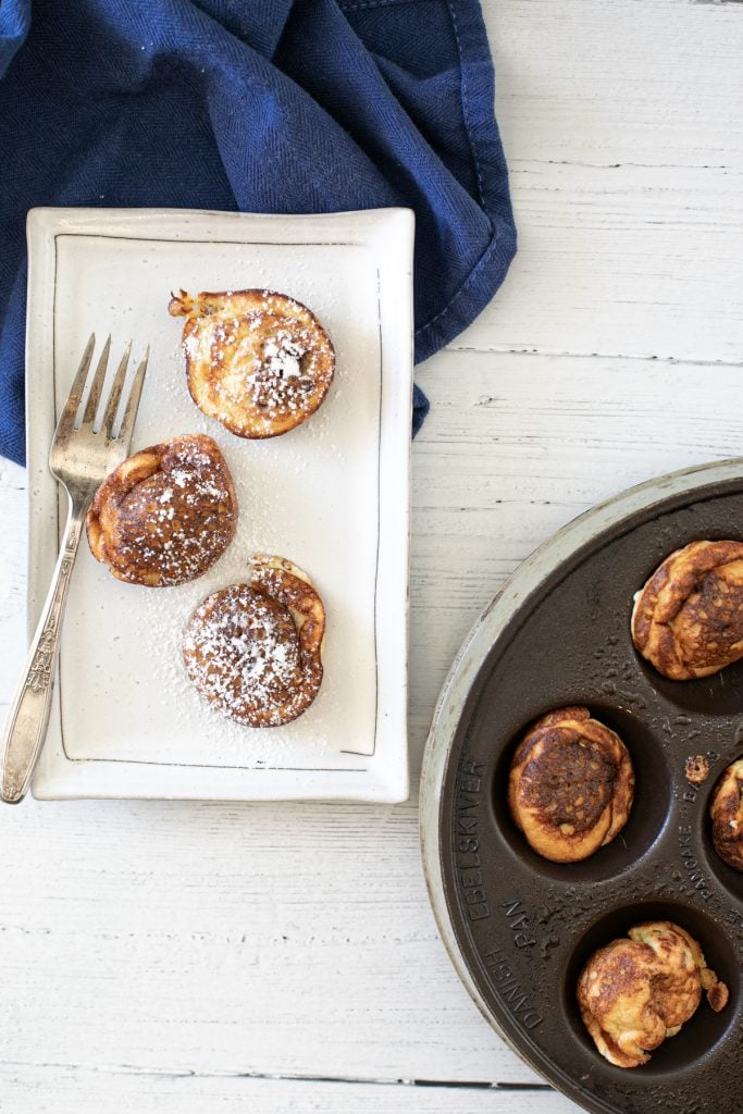 Keto friendly aebleskiver that are low carb, gluten-free, sugar-free.