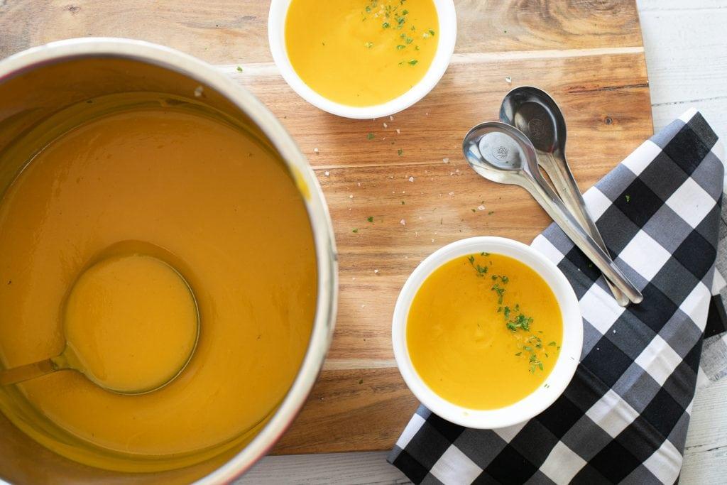 Gluten-free low carb instant pot pumpkin soup