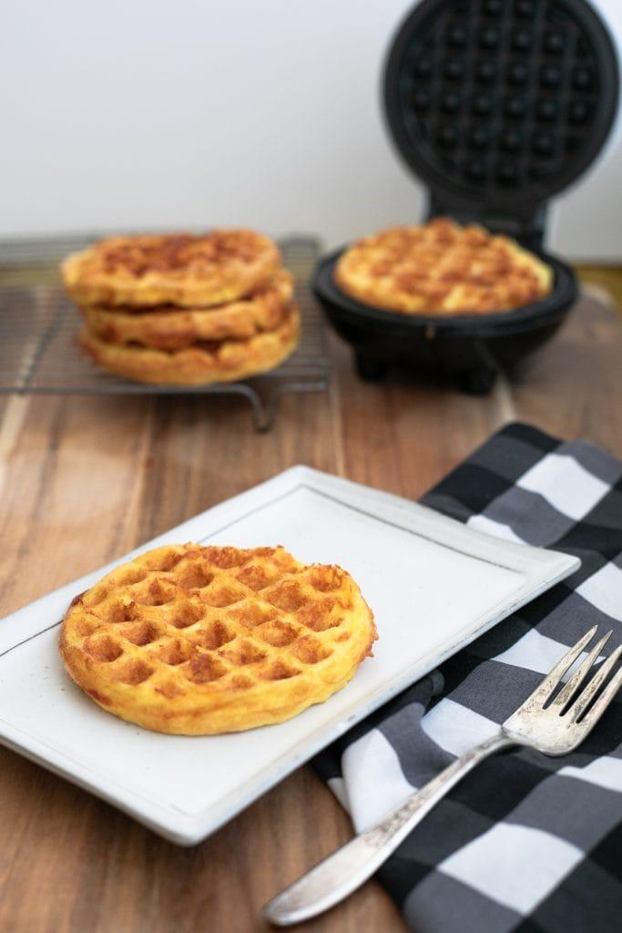 Keto Chaffles with Mini waffle maker