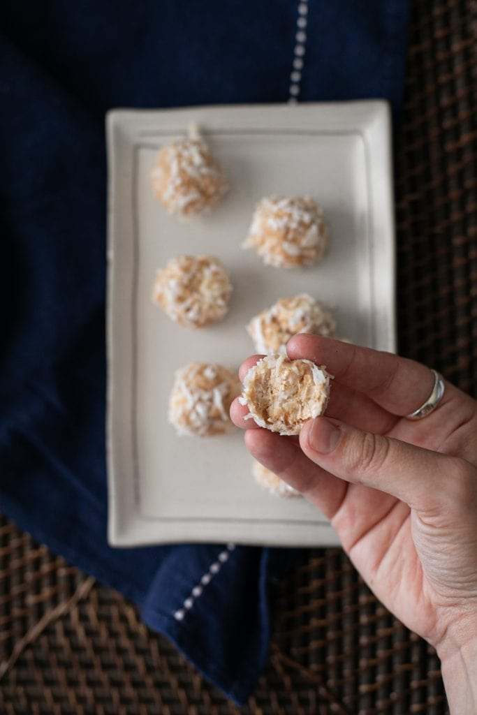 The bite shot - peanut butter low carb cheesecake bites
