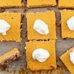 Pumpkin cheesecake squares - low carb, keto, sugar-free,