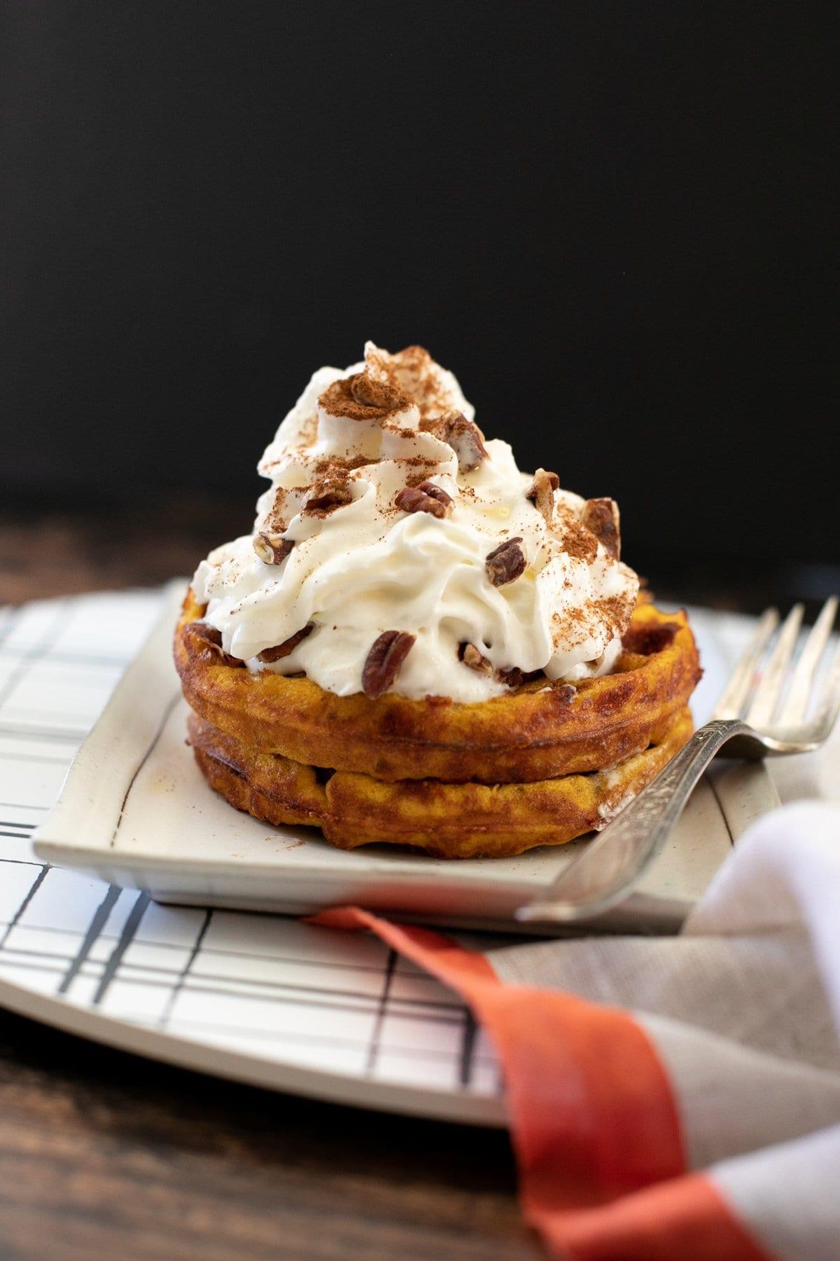 Pumpkin Pie Chaffle
