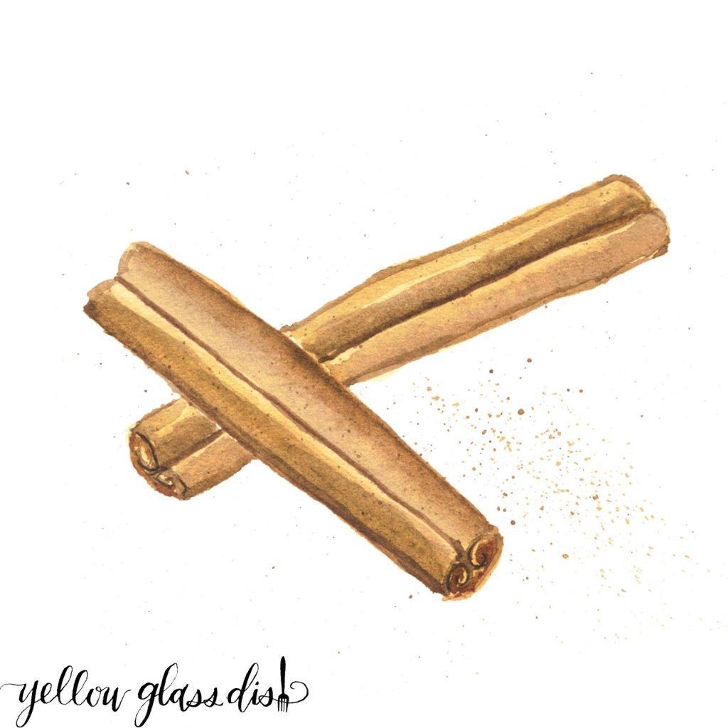Cinnamon Watercolor picture - Copyright - Yellow Glass Dish