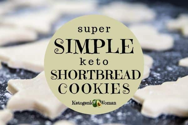 Simple Keto Shortbread Cookies with 4 Ingredients
