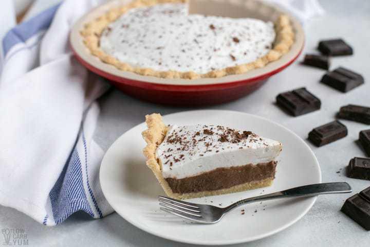 Dairy Free Low Carb Chocolate Pie - Sugar Free