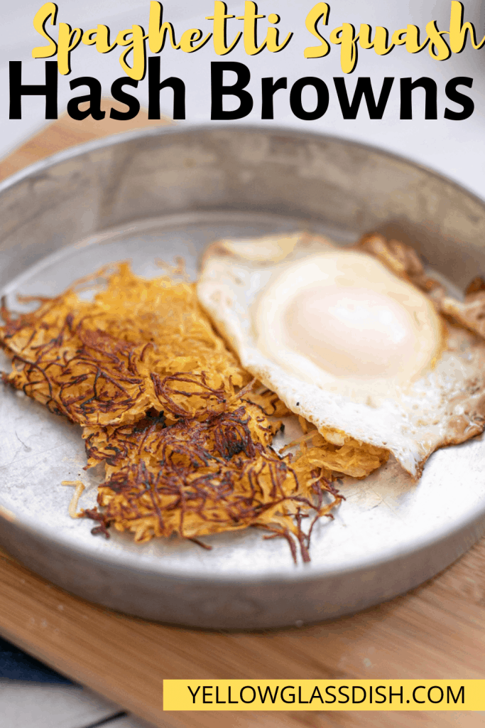 Spaghetti squash hash browns - low carb hash browns that are perfect for a keto breakfast. #spaghettisquash #ketobreakfast #lowcarb #keto #glutenfreebreakfast #dairyfree