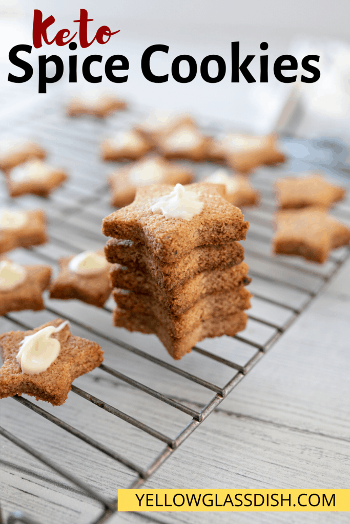 Keto Spice Cookies - Gluten-free and low carb cookies that are a mix between speculaas and gingerbread #ketocookies #ketochristmas #lowcarb #christmascookies #glutenfree #pumpkinspice #almondlfourrecipes #bakebelieve #sugarfree #monkfruitsweetener