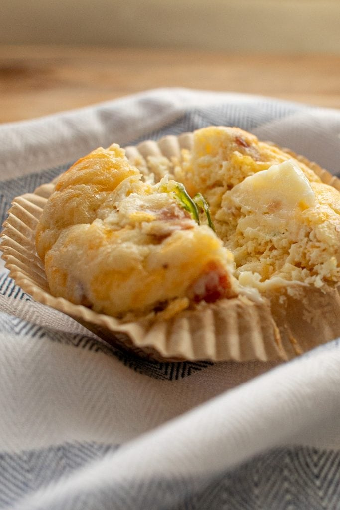 Bacon Jalapeno Cheddar muffin or biscuit, similar to cornbread but with keto-friendly ingredients.