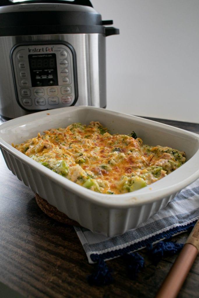Instant Pot Chicken or Turkey Broccoli Cauliflower Rice