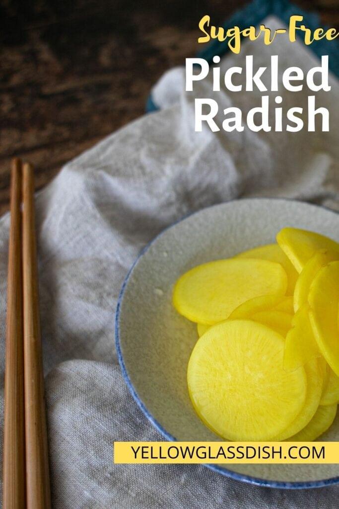 Korean Pickled Radish Recipe Yellow Glass Dish Sugar Free Low Carb